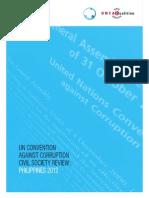 Philippine CSO Parallel Review Report (UNCAC)