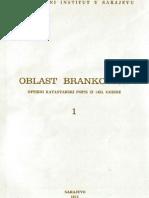 Oblast Brankovica Opsirni Katastarski Popis Iz 1455 Godine