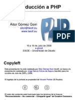 Introduccion a PHP