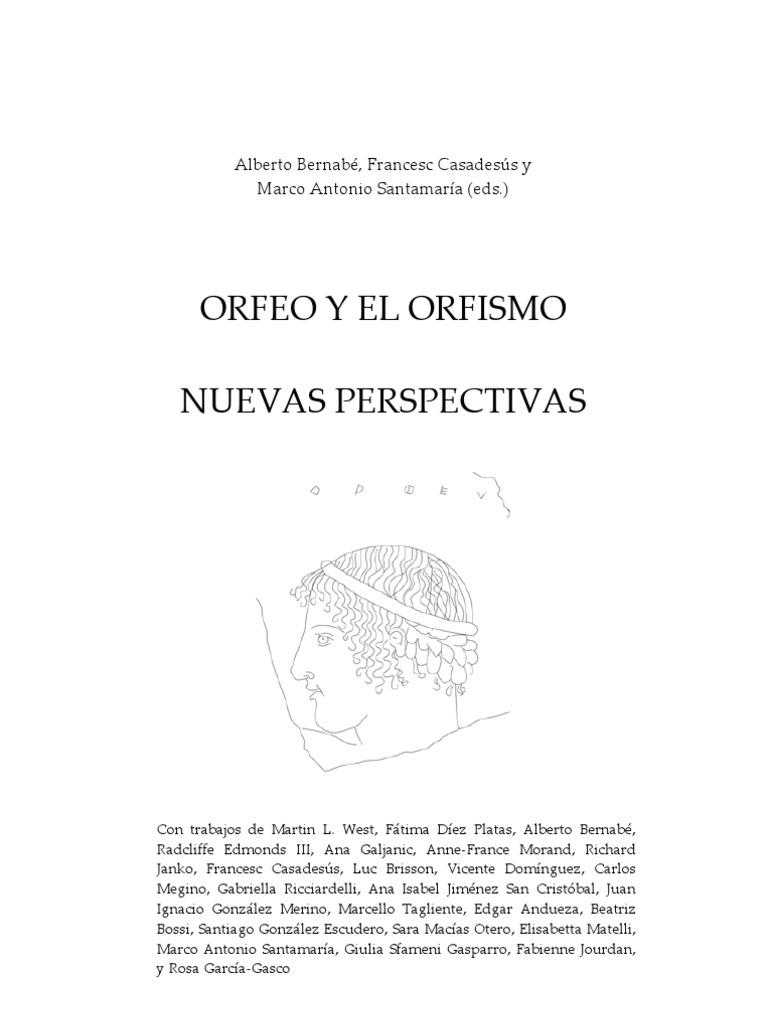 Orfeo y El Orfismo Nuevas Perspectivas 0