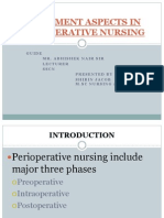Treatment Aspects in Perioperative Nursing