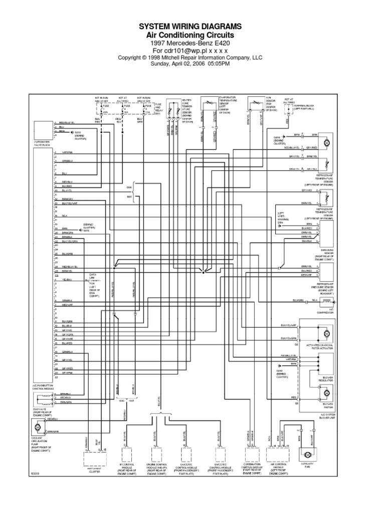 WRG-5568] 1997 Mercedes E320 Fuse Box Diagram on