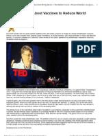 ROTHSCHILD - Bill Gates Talks About Vaccines to Reduce World Population - William Engdahl