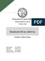 Profesorado Didactica- Trabajo Final