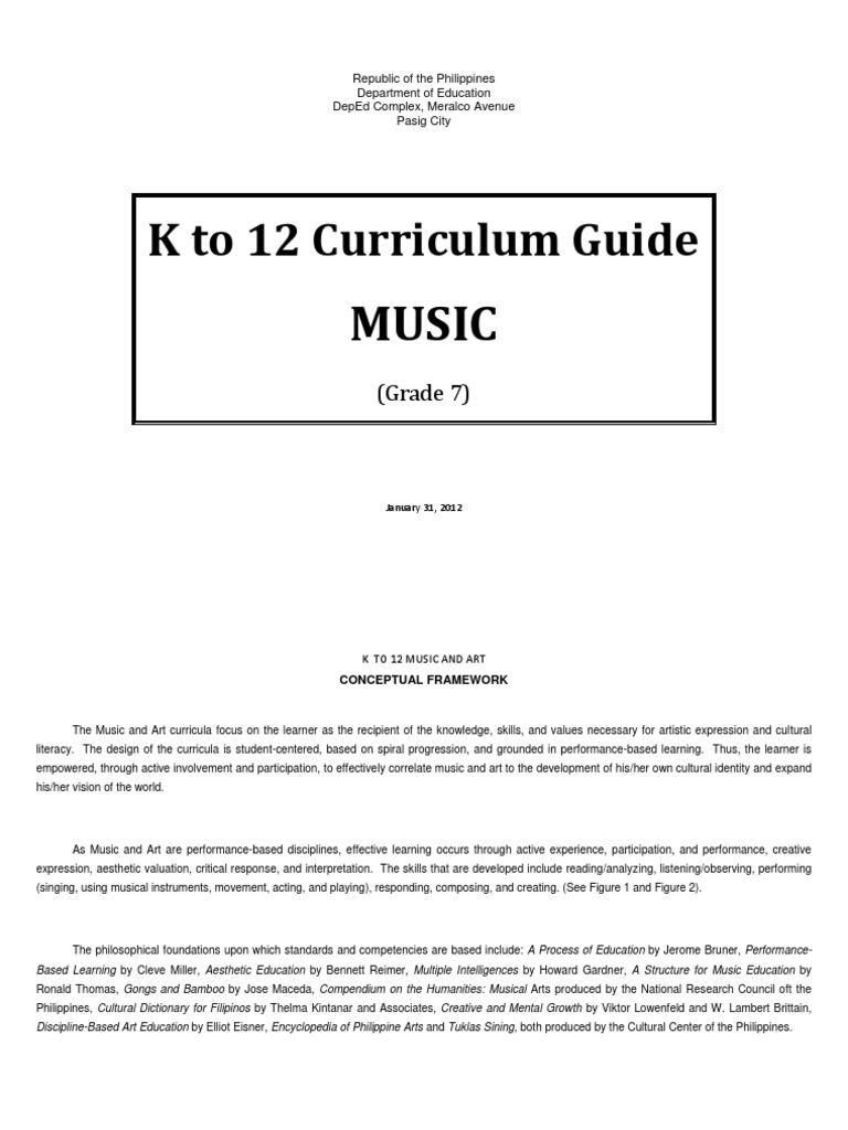 music k to 12 curriculum guide grade 7 rhythm learning rh scribd com mapeh k 12 curriculum guide exam finals mapeh k 12 curriculum guide exam finals