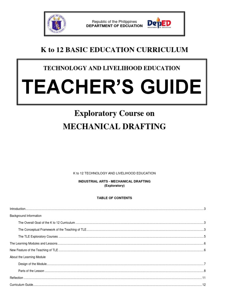 K to 12 background images - K To 12 Mechanical Drafting Teacher S Guide Curriculum Technical Drawing