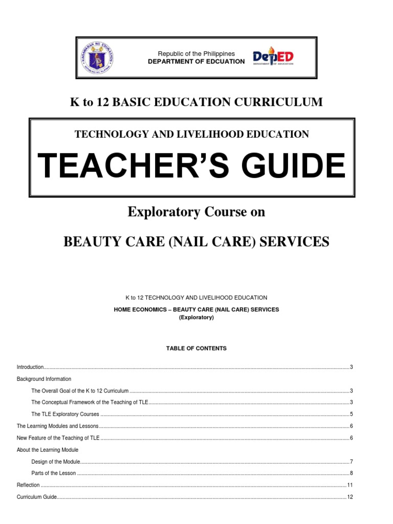K To 12 Nail Care Teachers Guide