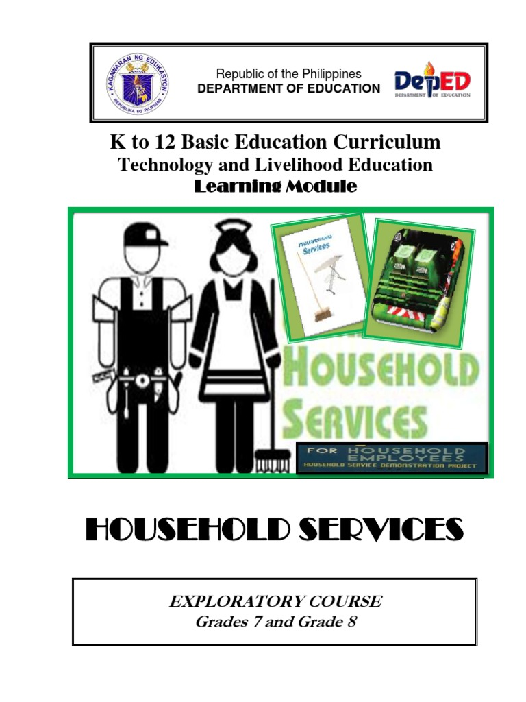 k to 12 Household Services Learning Module | Vacuum Cleaner ...
