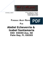 Forensic Mortgage Fraud Audit Report (MFI Miami) Echeverria, et al vs Bank of America, et al.