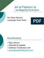 Mga Lapit Sa Pagtuturo Ng Filipino Sa Bagong