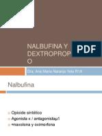nalbufina y  dextropopoxifeno