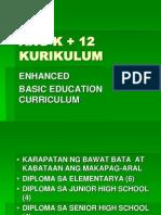 Ang k + 12 Kurikulum - Copy