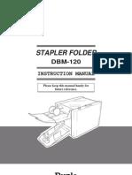 Dbm-120 Stapler Folder