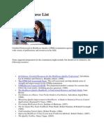 CPHQ Resource List