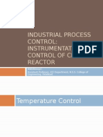 Instrumentation and Control of Chemical Reactor