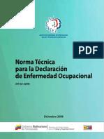 Listas de Enfermedades Ocupacionales Establecida en La Norma Tecnica