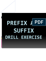Prefix and Suffix Exercise