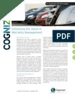 Unlocking the Value in Warranty Management