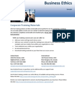 Business Ethics Sample