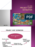 Cost Project Estimation 2012-Lan4800