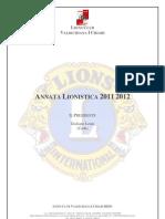 Lions Club Valdichiana I Chiari Giuliano Lenni Resoconto Annata Lionistica 2011 2012