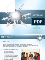 Meetings and Resolutions