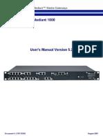 LTRT-83302 Mediant 1000 SIP User's Manual Ver 5.2