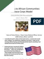 Peace Corps Jody K. Olsen Africom Briefing