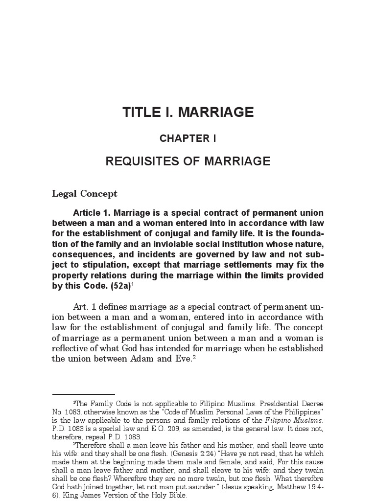 The Law on Marriage | Annulment | Marriage
