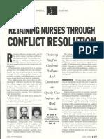 Retaining Nurses Through Conflict Resolution