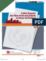 Effort Financier Des Villes Amies Des Enfants