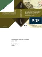88874318 Antisemitismul Universitar in Romania 1919 1939