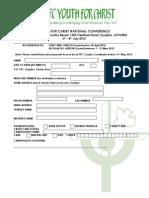 Cfc-yfc Ycon Registration Form
