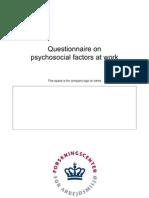 Copsoq II Medium Size Questionnaire English
