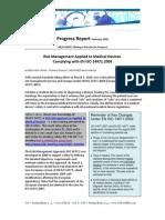 Progress Report - February 2010 - Rvsd en ISO 14971 2009