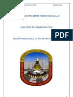 DISEÑO HIDRAULICO DE UN SIFON INVERTIDO