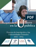 Folleto Inscripcion Universidades Publicas 2012-2013