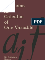 PROBLEMS IN CALCULUS OF ONE VARIABLE BY I.A.MARON