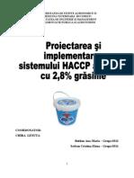 Proiectarea Si Implementarea HACCP Iaurt 2.8% Grasime