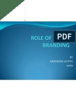 Imc role in branding