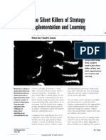 The Silent Killers of Strategy