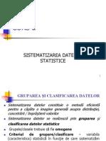 Curs 2 Sistematizarea Datelor Statistice