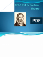 Hegel 1770-1831 and His Theory