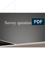Survey Questionner