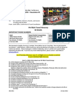 NLC Newsletter 5--Travel Itinerary & Details
