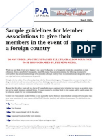 09LEGBL01 - Guidelines for Pilots Arrested in a Foreign Country