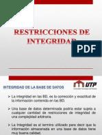 Restricciones BD