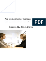 Are women better manager than men