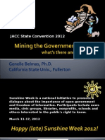 Mining the Government for Data 2012