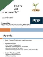 Group 6 Presentation - Impact Investing & Venture Philanthropy (1)